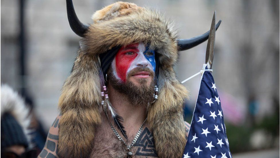 capitol-riot:-'qanon-shaman'-pleads-guilty-in-federal-court